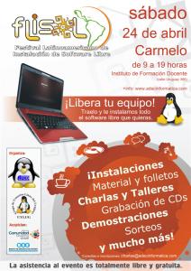 Afiche_FLISOL_2010_Carmelo_Colonia