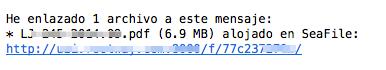 Adjuntar archivos al correo desde tu servicio de archivos en la nube