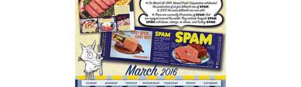 Spam como evento de calendario